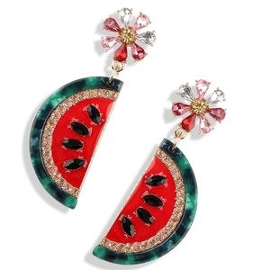 🆕 Watermelon Earrings! New with tags 🍉